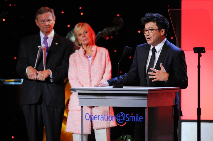Henry Nguyen honored at the 2015 Operation Smile Gala on October 2, 2015 at The Beverly Wilshire Hotel in Beverly Hills, CA. (Photo by Vince Bucci)