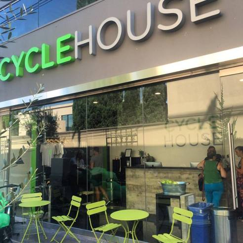 Cycle House on Melrose in West Hollywood. (Photo credit: Melissa Curtin)