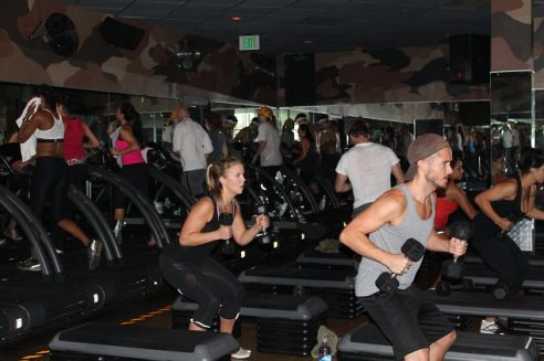 Barry's Bootcamp West Hollywood (Photo credit: www.dailymail.co.uk/tvshowbiz)