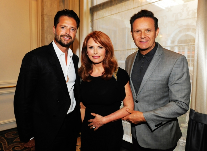 David Charvet, Roma Downey and Mark Burnett attend the Operation Smile's 2015 Smile Gala on October 2, 2015 in Beverly Hills, California. (Photo by Amy Graves/WireImage)