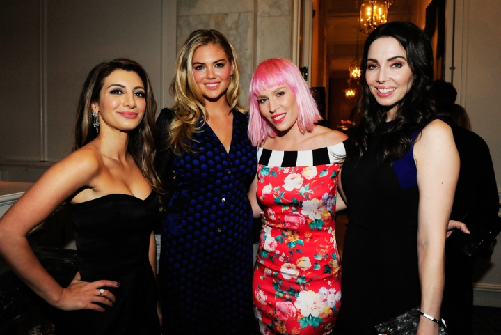Nasim Pedrad, Kate Upton, Natasha Bedingfield and Whitney Cummings attend the Operation Smile's 2015 Smile Gala on October 2, 2015 in Beverly Hills, California. (Photo credit: Amy Graves/WireImage)