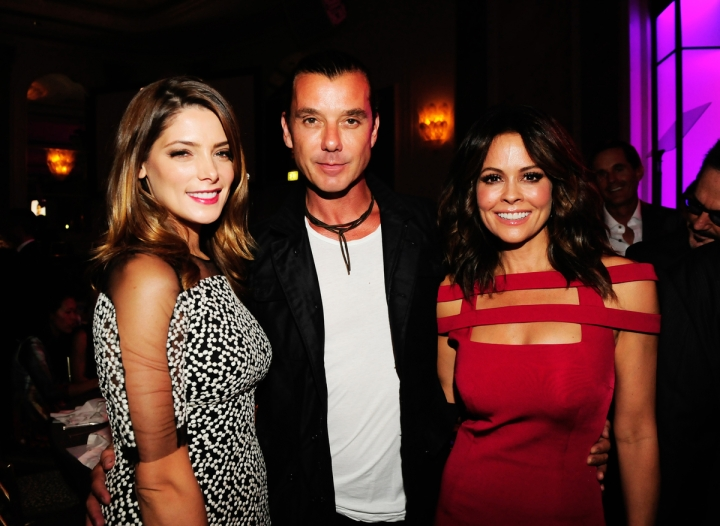 LOS ANGELES, CA - OCTOBER 2: Ashley Greene, Gavin Rossdale and Brooke Burke Charvet attend the Operation Smile's 2015 Smile Gala on October 2, 2015 in Beverly Hills, California. (Photo credit: Amy Graves/WireImage)