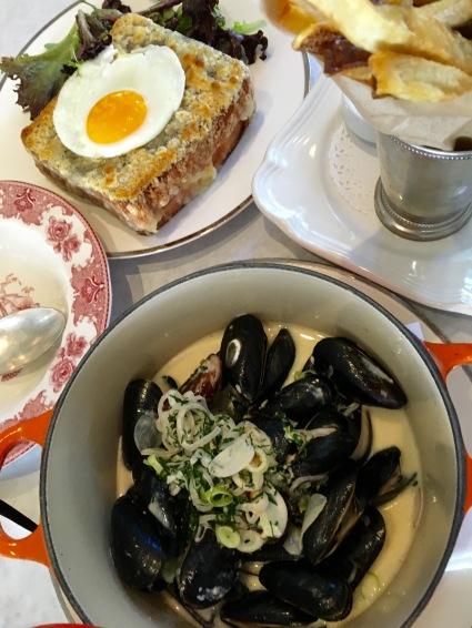 terrine-restaurant-beverly LA mussels Croque Madam