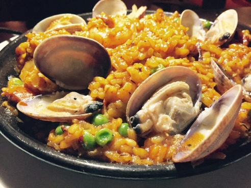 Chef Drew Davis' Spanish Paella (Photo credit: Scott Bridges)