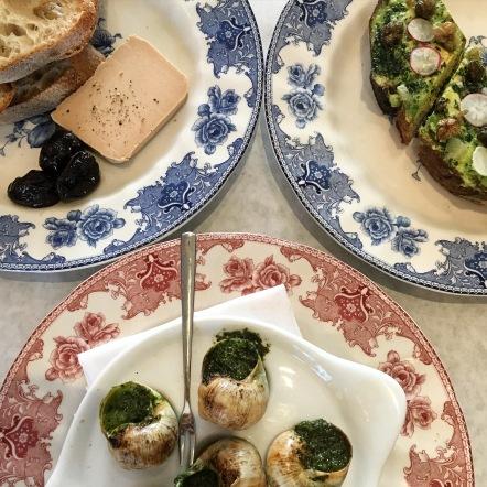 terrine-restaurant-beverly LA foie gras escargot tartine