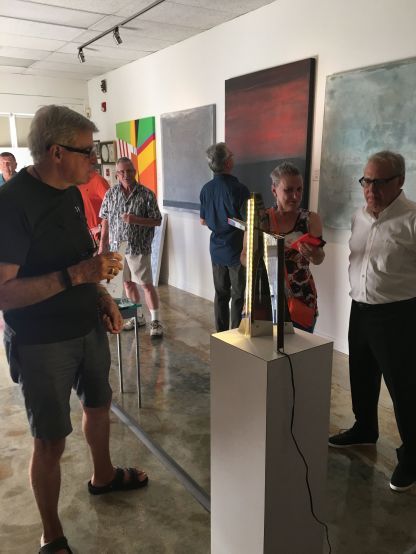Palm Springs. Patrons admire Ronald Graziano's functional art. (Courtesy photo)