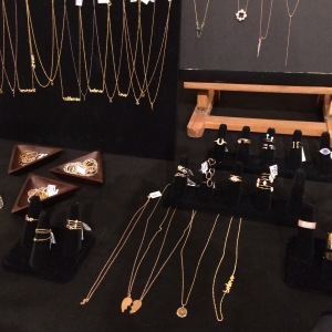 Display of Iconery jewelry at TDR and Revlon's Night of Beauty at Beverly Hills Hotel (photo credit: Rochelle Robinson)