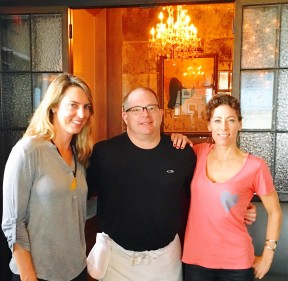 LaLaScoop co-founders, Melissa Curtin (l) and Rochelle Robinson (r) with Crossroads Kitchen Executive Chef Scot Jones