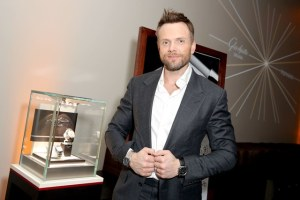 "Joel McHale attends the Glashutte Original celebrates the launch of manufactory book ""Impressions"" at Milk Studios on February 3, 2016 in Los Angeles, California."