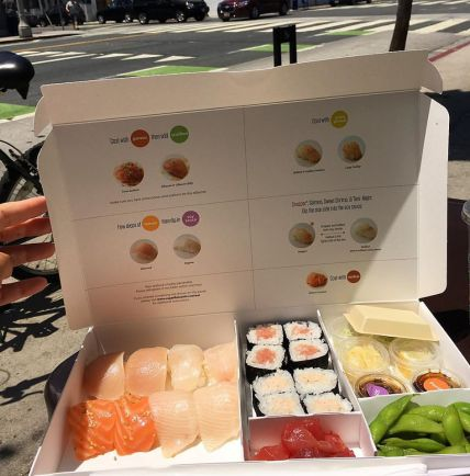 Sugarfish Door Dash