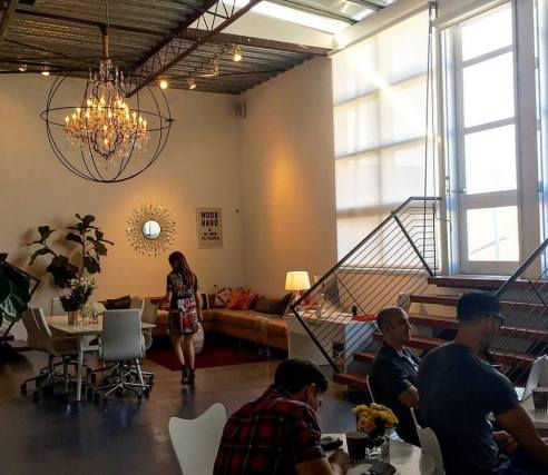 Beautiful space at Mavens TV in Santa Monica. Brand Boss workshop.