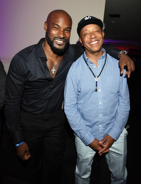 Model Tyson Beckford (L) and Russell Simmons attend the 2016 MAXIM Hot 100 Party at the Hollywood Palladium on July 30, 2016 in Los Angeles, California. (Photo by Vivien Killilea/Getty Images for Karma International )