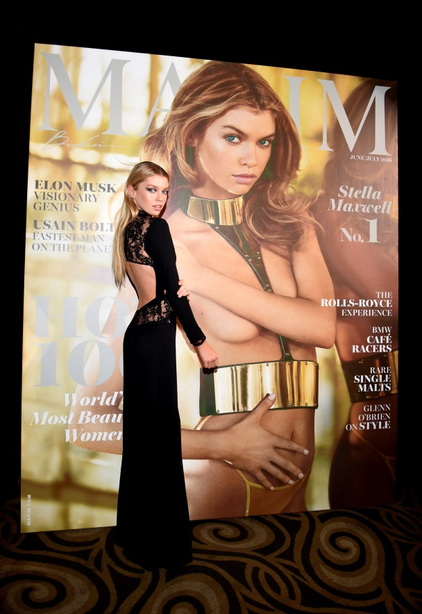 LOS ANGELES, CA - JULY 30:  Model Stella Maxwell attends the 2016 MAXIM Hot 100 Party at the Hollywood Palladium on July 30, 2016 in Los Angeles, California.  (Photo by Vivien Killilea/Getty Images for Karma International )
