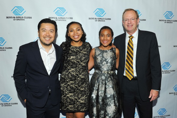 Keynote Speaker Jason Lynn, BGCA 2016 National Youth of the Year Jocelyn W., 2015 National Youth of the Year Whitney S. and Jim Clark, BGCA President & CEO (Photo credit: Vince Bucci)