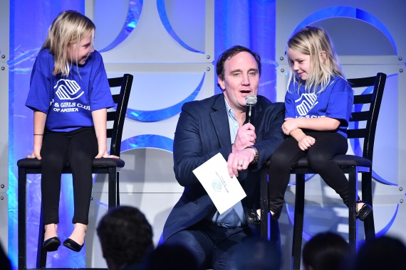 """Host Jay Mohr on stage with BGCA Club members conducting a hilarious segment of """"Kids Say The Darndest Things"""""""