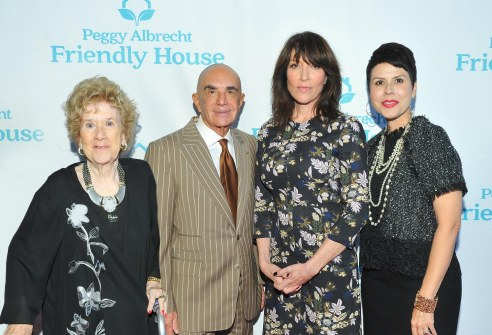 Executive Director of Friendly House Peggy Albrecht, Robert Shapiro, Katey Sagal and Assistant Executive Director of Friendly House Monica Phillips