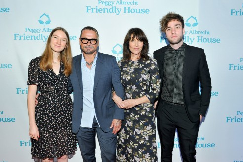 Daughter Sarah Grace White, Kurt Sutter, Woman of the Year honoree Katey Sagal, and son Jackson James White