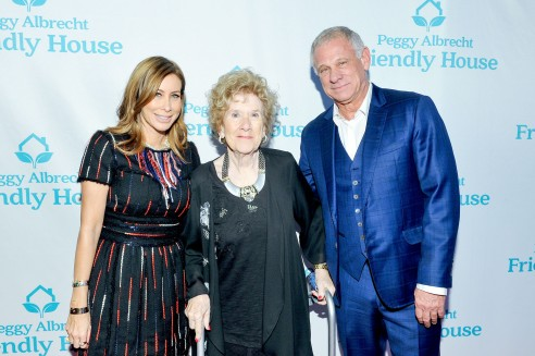 Co-chairs Sydney Holland (left) and Howard Samuels (right) with Executive Director of Friendly House Peggy Albrecht (center)