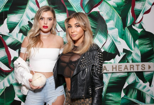 LOS ANGELES, CA - JANUARY 25: Vlogger Alissa Violet and model/actress Chantel Jeffries attends L.A. Hearts + PacSun celebrate 2017 Spring Swimwear Collection at Delilah on January 25, 2017 in Los Angeles, California. (Photo by Rochelle Brodin/Getty Images for L.A. Hearts/PacSun)