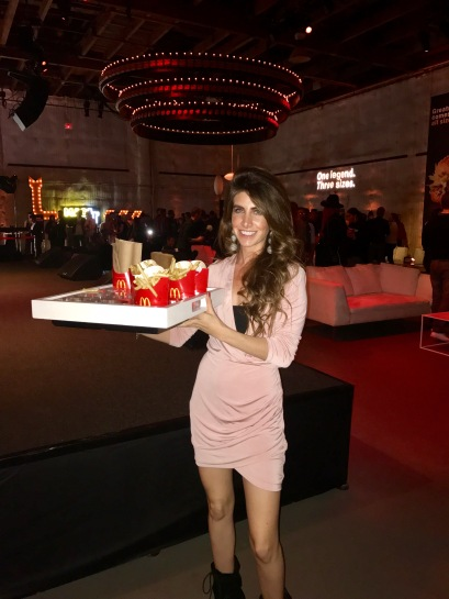 Our good friend Robyn Deutsch delivers some fries to our table. I'm Loving it! (Photo credit: Melissa Curtin)