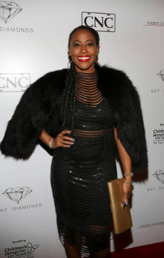 Nichelle Hines arrives at the Sky Diamonds NHL All Star Party presented by Sports Car Management and CNC Motors, Inc to benefit Children's Hospital Los Angeles