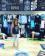 Rochelle Robinson of Andiamo Body and LaLaScoop working out group at Lorna Jane Active